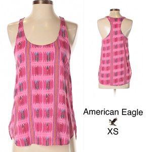 AEO Pink Print Sleeveless Tank XS
